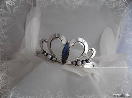 'Serenity' handmade sterling silver tiara by seralune