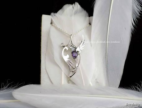 'Harmony', handmade sterling silver pendant