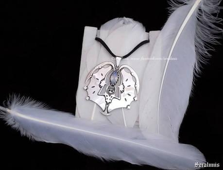'Lunala' handmade sterling silver pendant
