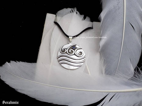 'Katara's necklace', sterling silver pendant