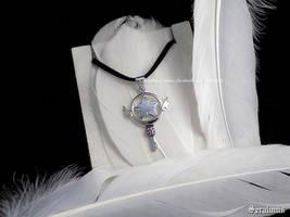 'Sakura' handmade sterling silver pendant