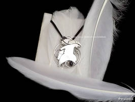 'Typhlosion' handmade sterling silver pendant