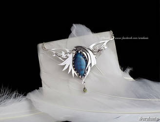 'Blue Dragonscale',  sterling silver necklace by seralune