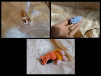 Needle felted cuties by seralune