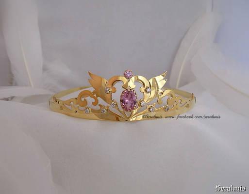 'Neo Queen Serenity', handmade gold-plated tiara