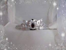 Rhodium plated handmade Neo Queen Serenity tiara