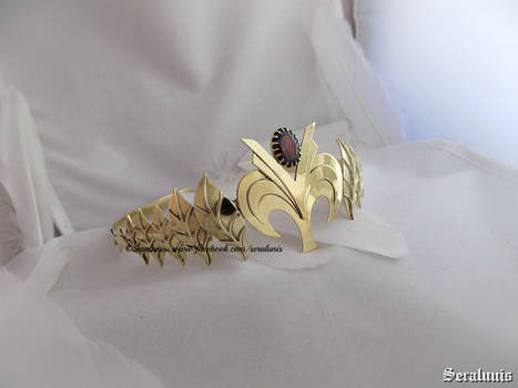 'Princess Zelda' handmade gold-plated crown