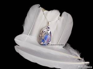 Dragon love, handmade sterling silver pendant