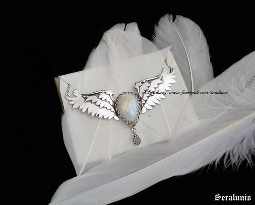 'Angelic wings' handmade sterling silver necklace