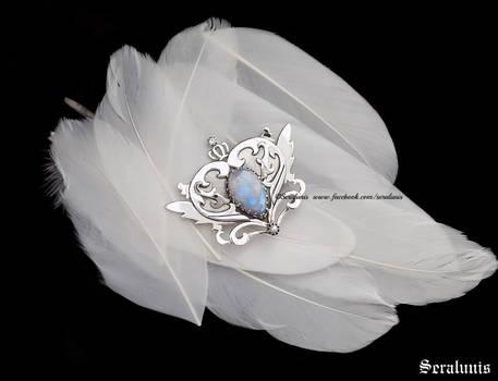 Neo Queen Serenity,handmade sterling silver brooch