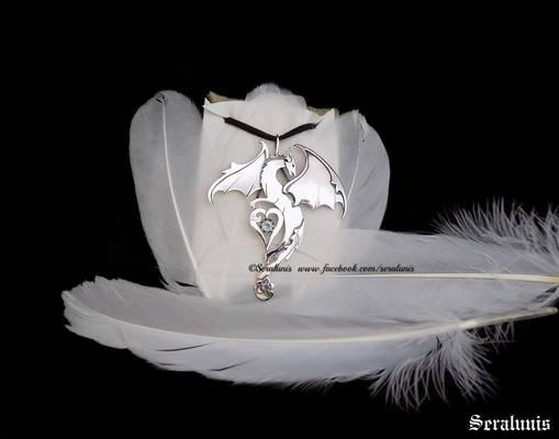 Aquadragon, handmade sterling silver pendant