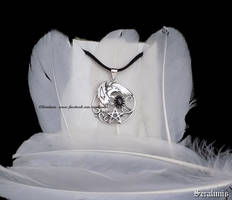 Raven, handmade sterling silver pendant