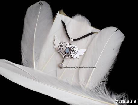 Serenity, handmade sterling silver pendant