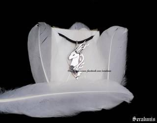 Halla, handmade sterling silver pendant