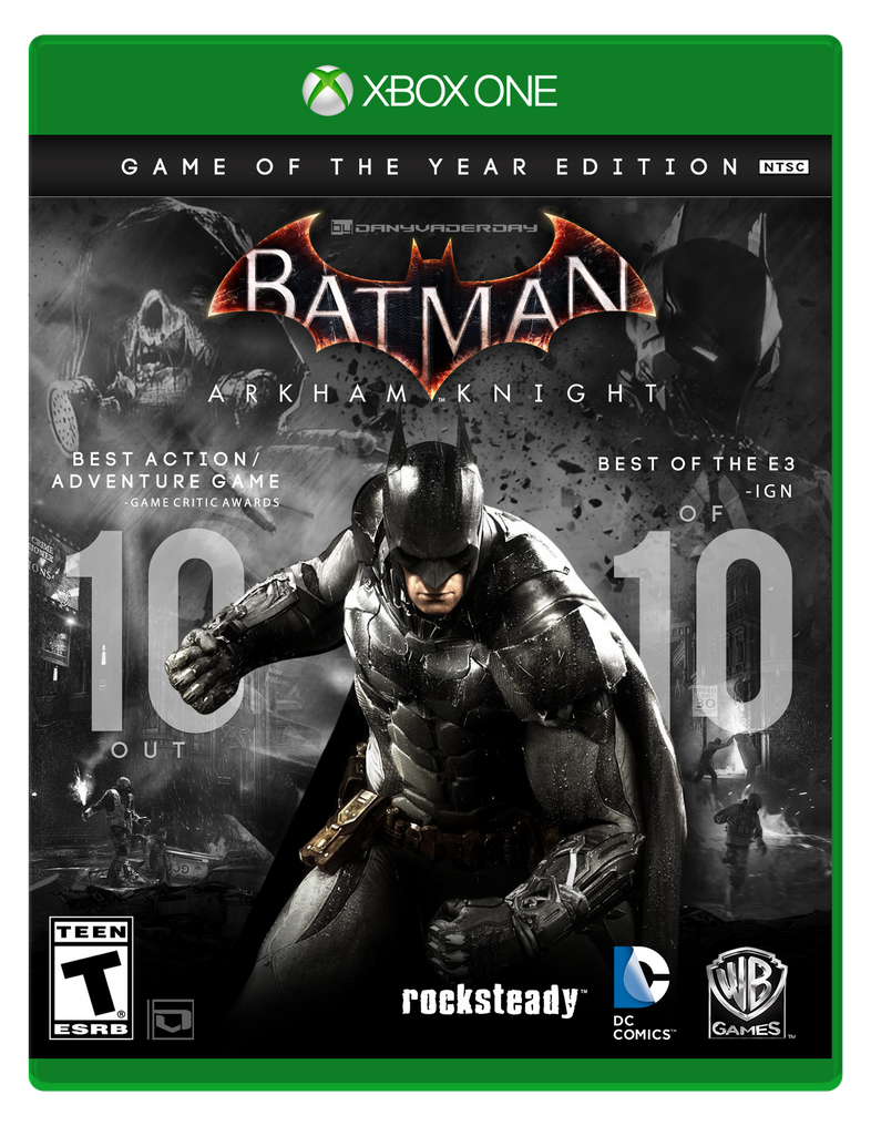 Batman: Arkham Knight | GOTY Box Art Fan-made by DANYVADERDAY