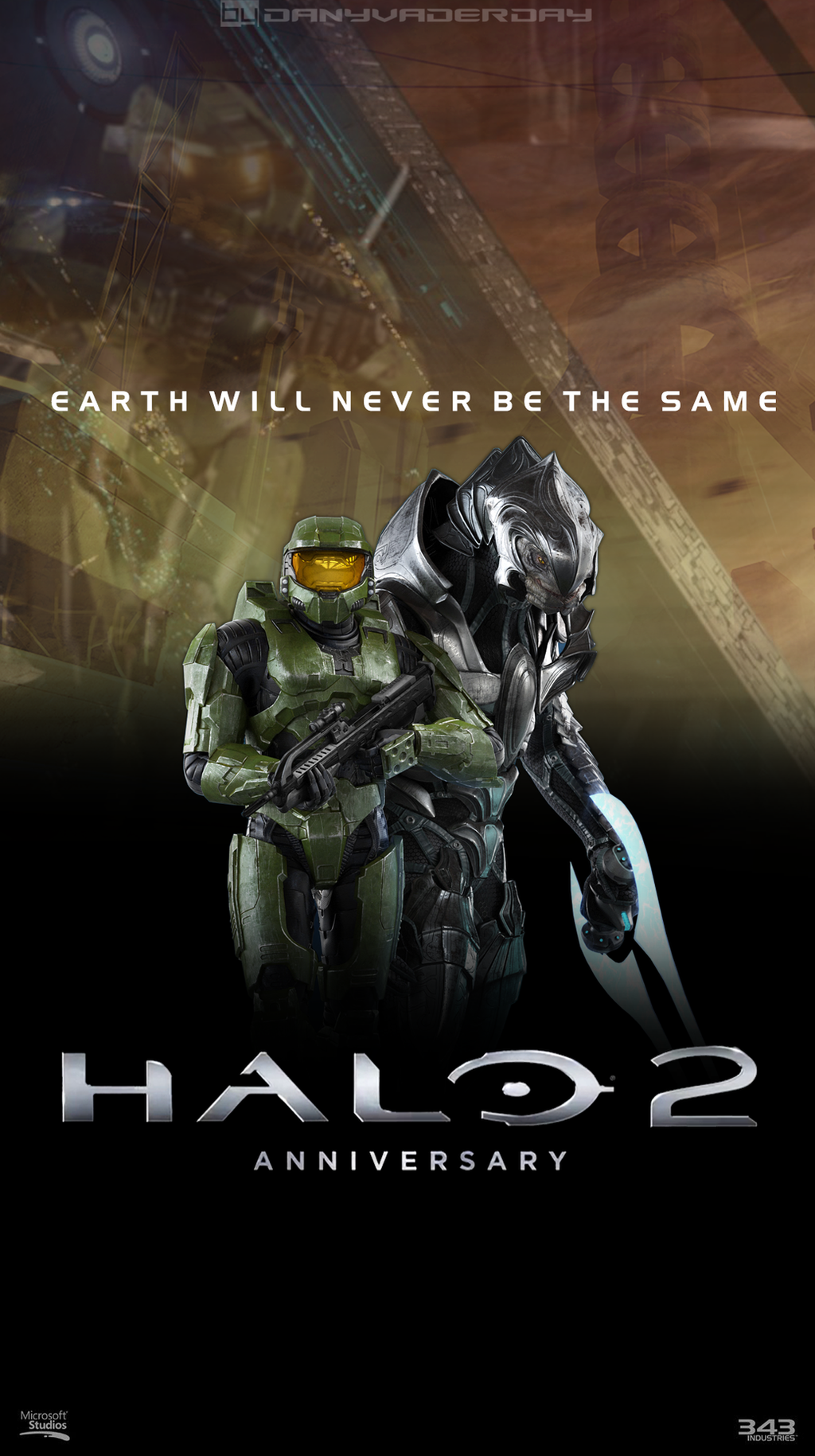 halo 2 anniversary poster by danyvaderday on deviantart