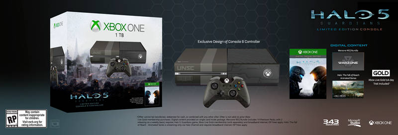 Halo 5: Guardians Limited Edition Console Fan-made
