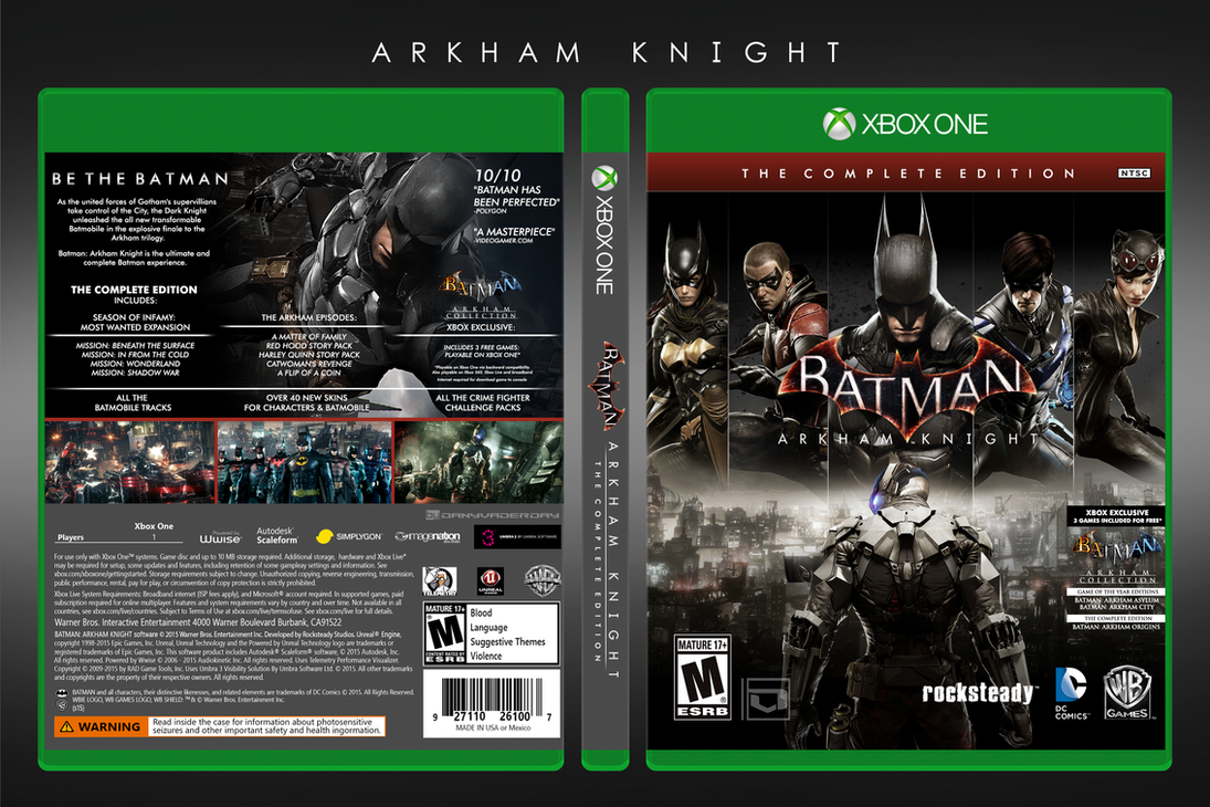 Batman: Arkham Knight |  Complete Edition Box Art by DANYVADERDAY