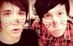 Dan and Phil stamp by Yumiko-Wolf
