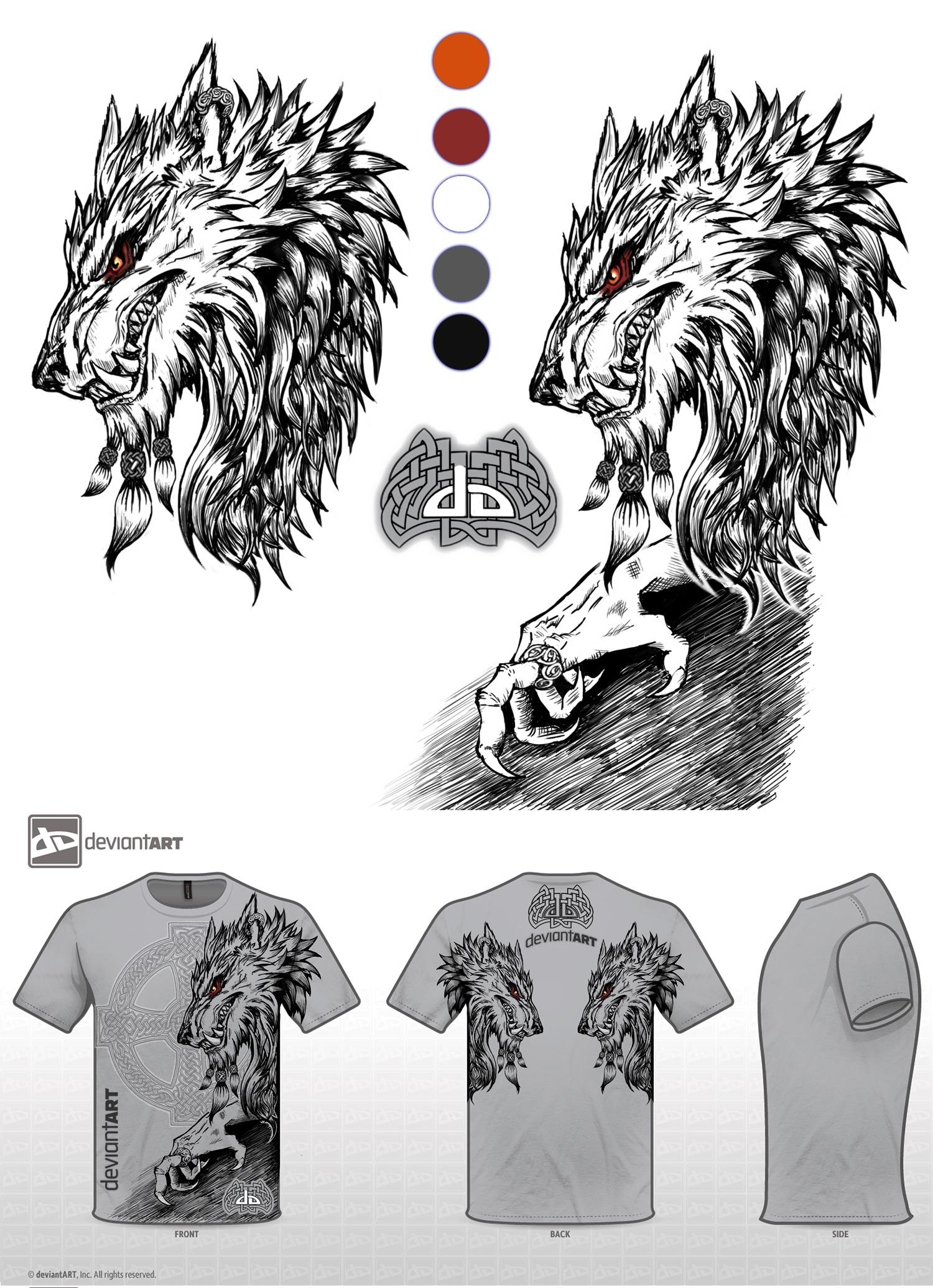 T Shirt Werewolf Design