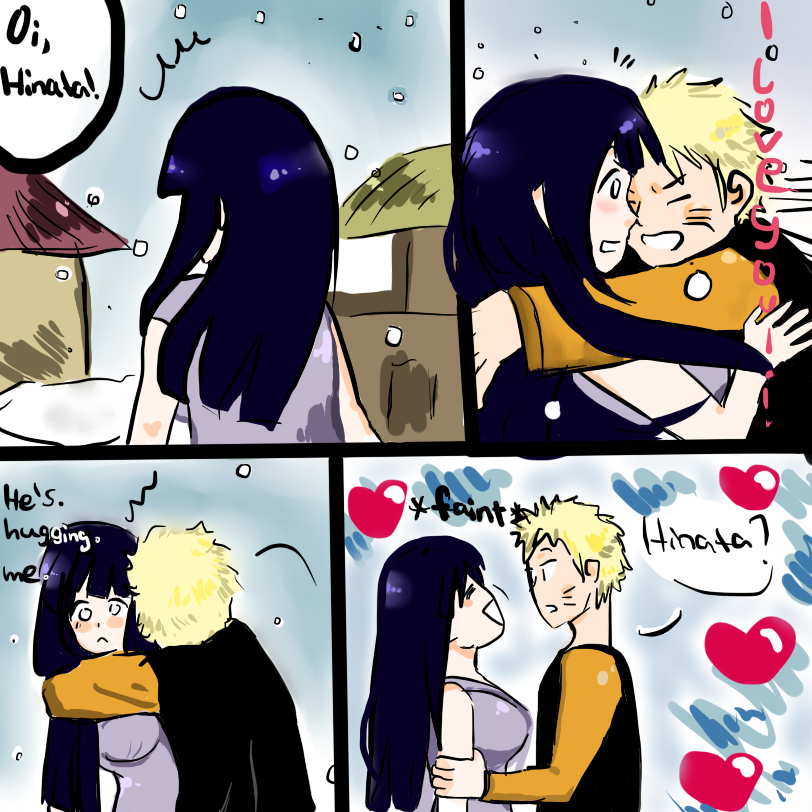 Naruhina hug by OkuTOshI on DeviantArt