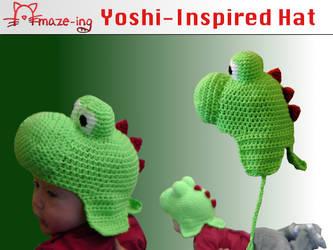 Amaze-ing Baby Yoshi Hat by Amaze-ingHats