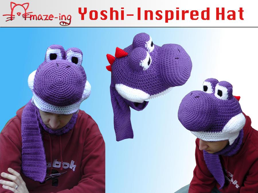 Amaze-ing Purple Yoshi with Cheeks by Amaze-ingHats