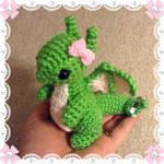 Custom Order - August Dragon w/ bow in Oct's pose