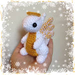 Angel Dragon with Gold Wings