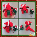 Mummy and Baby Christmas Dragons