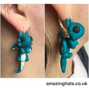 Polymer Clay Dragon Earrings