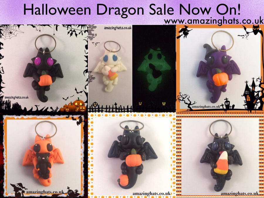 Halloween Dragons! by Amaze-ingHats