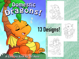 Domestic Dragons Colouring Pack by Amaze-ingHats