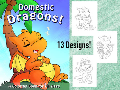 Domestic Dragons Colouring Pack