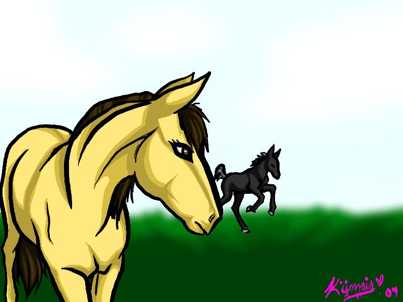 Horses by kijonaia