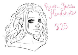 Rough Sketch Headshot Commissions