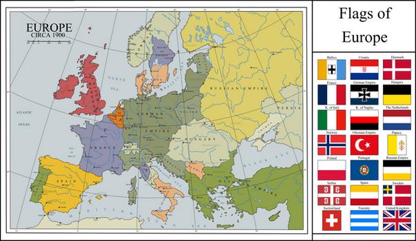 Karlsreich Europe in 1900 AD