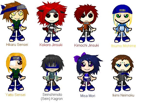 My Naruto Characters Chibi By Knonoko