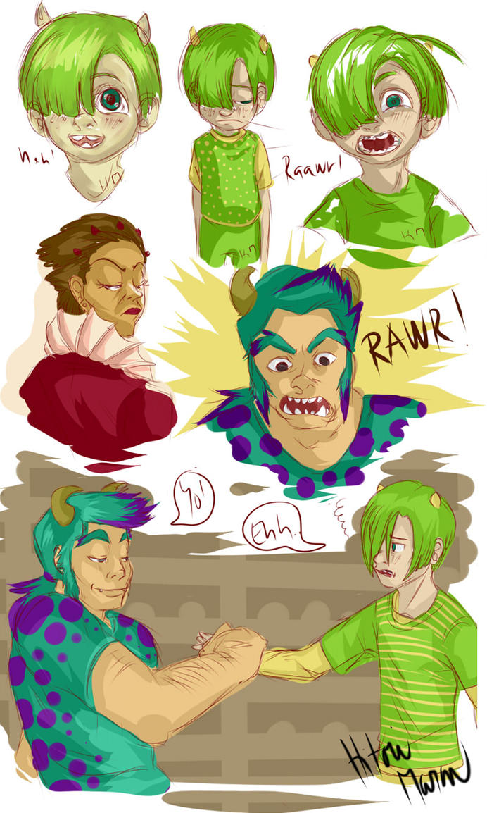 Monsters university doodles by hitorimaron on deviantart monsters university doodles by hitorimaron voltagebd Images