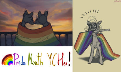 Pride Month YCHes! (custom flag) OPEN!