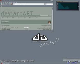 My computer, dA theme. by johnedgar