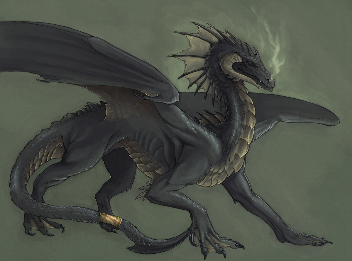 Sinistre black dragon.