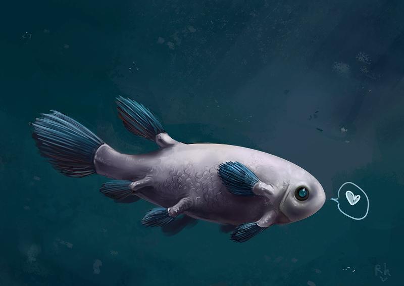 coelacanth cutie by Rhynn
