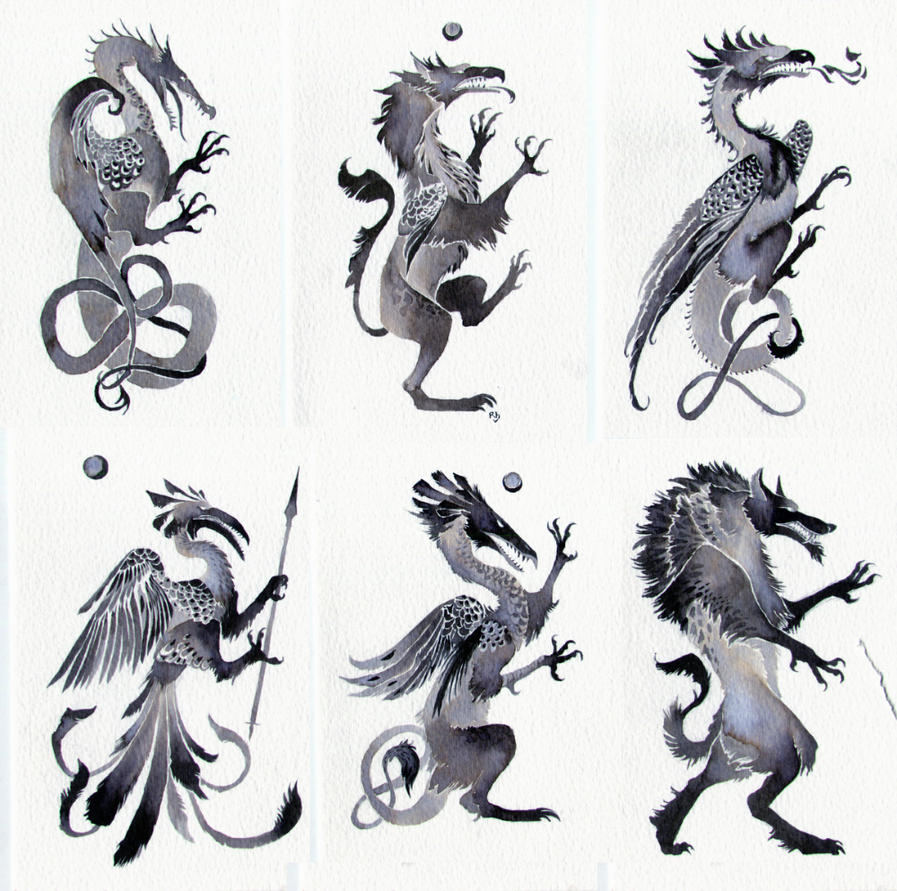 Heraldic Beasts by Rhynn