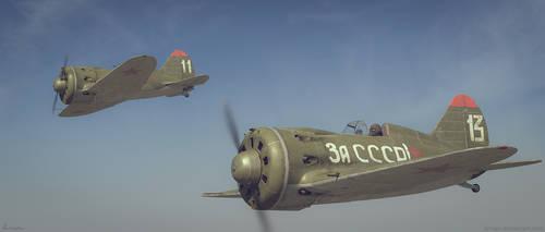 Air Patrol -  Polikarpov  I-16 by limiao