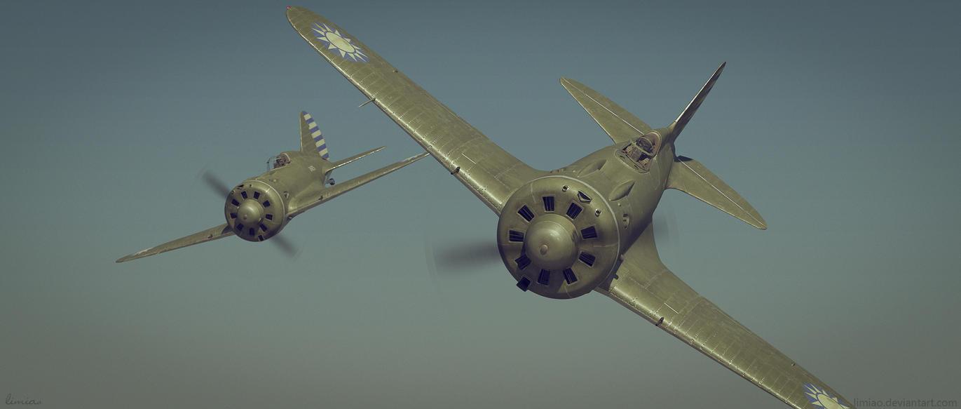 Dive - Polikarpov  I-16 by limiao