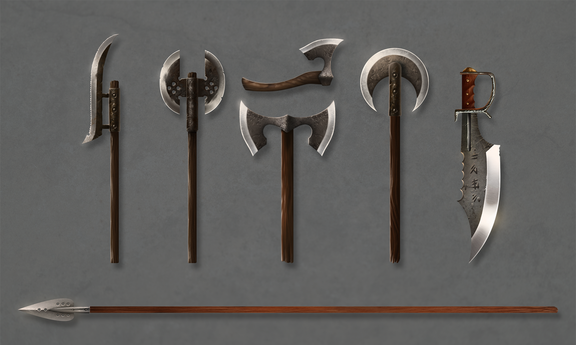 Medieval weapon concept art by TheGraphicWorkroom on ...