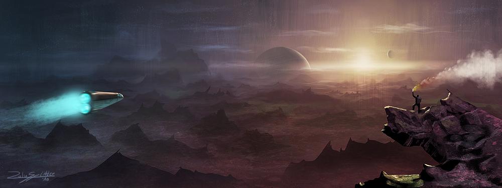 Speedpaint - Moon-World 2 by ZuluSplitter