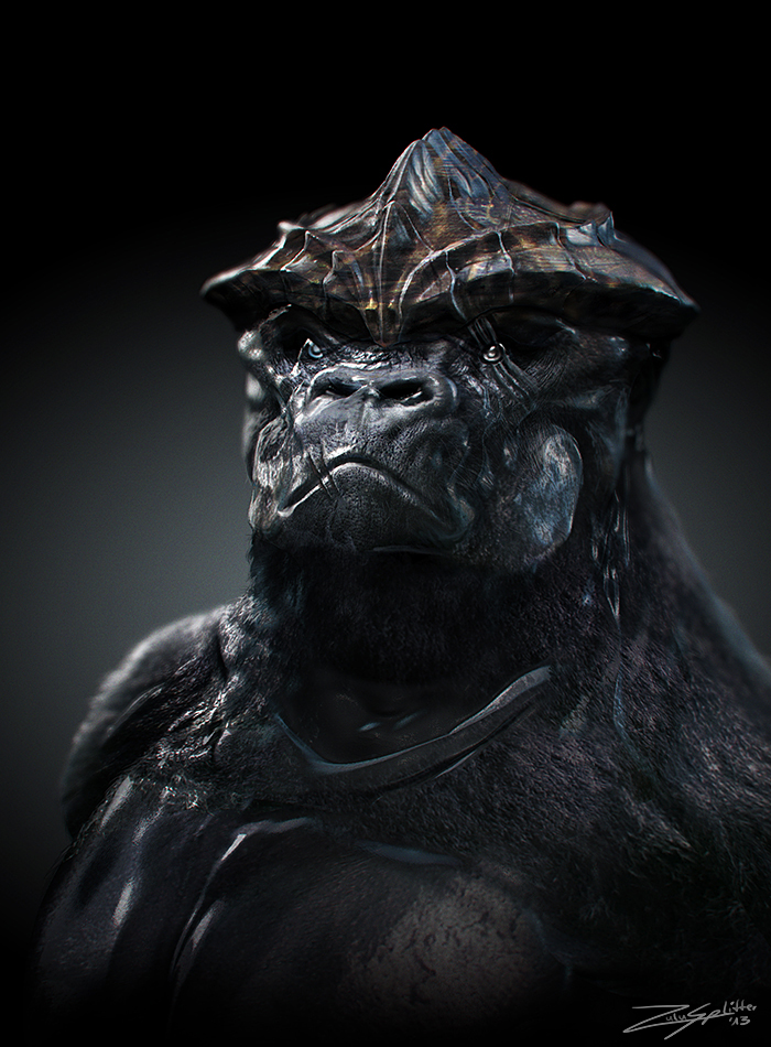 Gorilla Turtle Portrait by ZuluSplitter