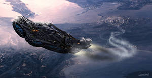 Sarcophage Spaceship Sketch